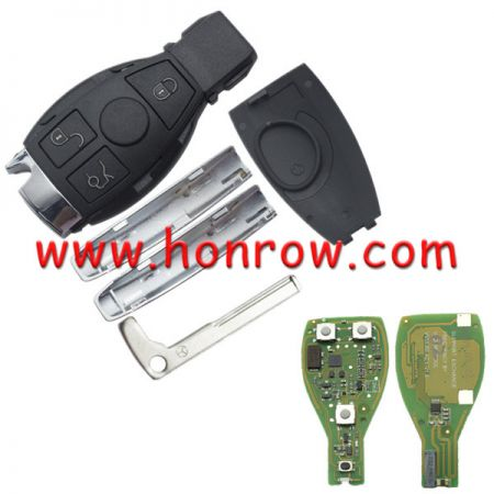 VVDI full key for hot sale Benz 3 button/4button remote  key with 315Mhz, The frequency can be changed to 433mhz